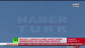 فیلم/ صحنه سقوط جنگنده در مرز ترکیه