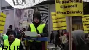 فیلم/تظاهرات ضد سعودی در آمریکا