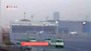 لحظه فرود اضطراری و آتش گرفتن بوئینگ ۷۷۷ هواپیمایی امارات