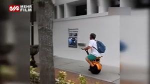 طراحی جالب موتور سیکلت تک چرخ!