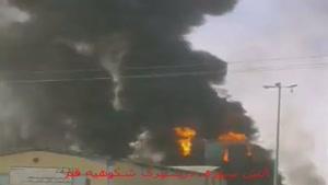 فیلم/آتش سوزی گسترده در شهرک شکوهیه قم