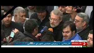 صحبتهای لاریجانی از اقدامات مجلس برای جلوگیری از وقوع حوادث مشابه پلاسکو