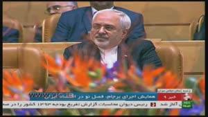 تعریف و تمجید رئیس جمهور از ظریف و صالحی/ تشویق مستمر حضار