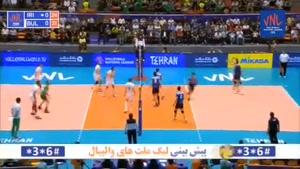 خلاصه والیبال ایران ۳ - بلغارستان ۱