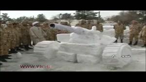 هنرنمایی سربازان ارتش با برف