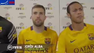 فیلم/ کری خوانی جالب بازیکنان بارسلونا هنگام بازی فیفا ۱۶