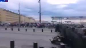 فیلم/ درگیری شدید هواداران انگلستان و روسیه