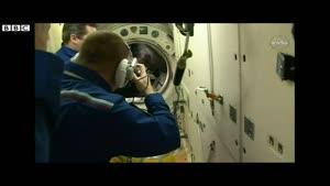 فیلم/ لحظه ورود فضانوردان جدید به ایستگاه فضایی