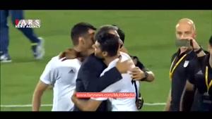 سوت پایان بازی و صعود تیم ملی ایران به جام جهانی روسیه