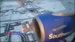 آتش گرفتن موتور هواپیمای مسافربری در آسمان آمریکا