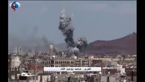 فیلم/نقض گسترده آتشبس یمن توسط جنگندههای سعودی