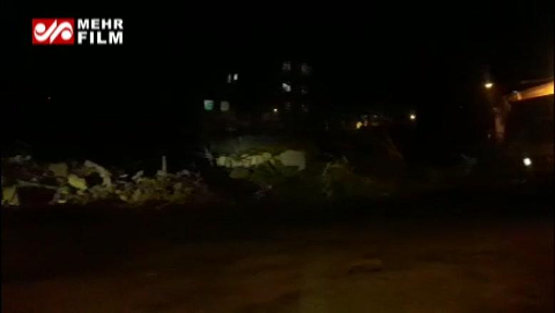 تخریب شبانه محله کبابیان همدان توسط بلدوزرهای شهرداری