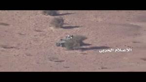 انهدام خودروی مزدوران سعودی توسط رزمندگان یمنی