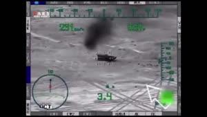 انهدام تانکهای داعش توسط جنگنده می۲۸ روسیه