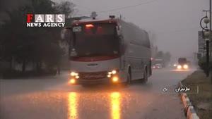 طوفان ۱۳۰ کیلومتری در مازندران