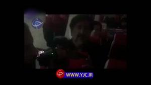 روضه خوانی خواننده معروف در مسیر کربلای معلی