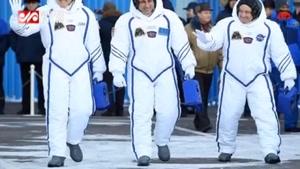 سه فضانورد به ایستگاه فضایی بین المللی رفتند