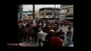 پليس ضد شورش برزيل با گاز اشک آور و اسپری فلفل مانع حرکت مشعل المپیک شد