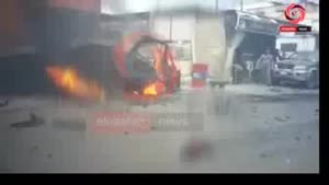 فیلم/انفجار صیدا و کشته شدن مسئول جنبش فتح در لبنان