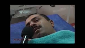 مصاحبه با یکی از سربازان نجات یافته از تصادف اخیر روی تخت بیمارستان