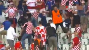 درگیری شدید هواداران کرواسی با چک