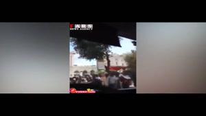 حمله مسافران اتوبوس برای سوار شدن
