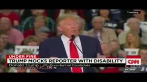 حرکت غیراخلاقی «ترامپ» با تقلید از خبرنگار معلول