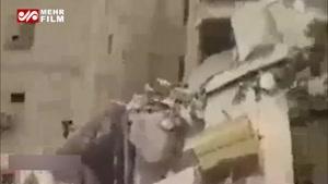 نخستین فیلم از حادثه ریزش ساختمان در اهواز