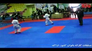 برگزاری مسابقات انتخابی تیم ملی کاراته بانوان کشور در اراک