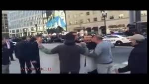 اقدام عجیب محافظان شخصی اردوغان در خیابان