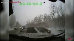 لحظات تصادف خودروها