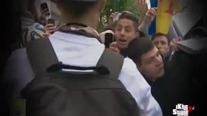 پسری که با دیدن کریستیانو رونالدو از خوشحالی گریه کرد