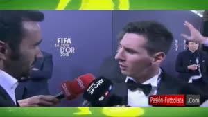 مصاحبه با مسی بعد از دریافت توپ طلایی