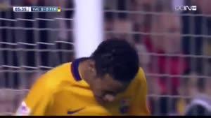 گل های بازی والنسیا ۱-۱ بارسلونا