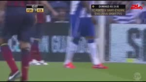 مسابقه فوتبال بارسلونا ۴ - پورتو ۴