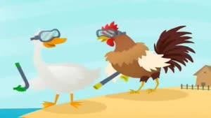 داستان کوتاه انگلیسی اردک، خروس، و پری دریایی