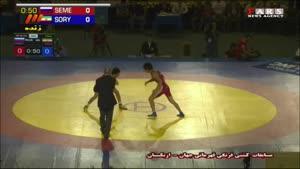 حمید سوریان ششمین طلای جهان را بوسید