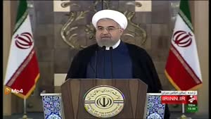 سخنرانی دکتر روحانی بعد از قرائت بیانیه مشترک