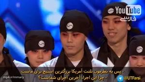 مسابقه تلنت شو و رقص دسته جمعی این پسران کره ای