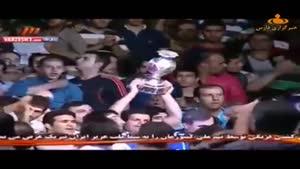 مراسم اهدای جام به تیم ملی کشتی فرنگی ایران
