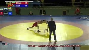 مسابقات کشتی آزاد ایران - آذربایجان - اسماعیل پور