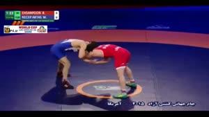 پیروزی احسان پور مقابل ترکیه؛ ۶۱ کیلوگرم