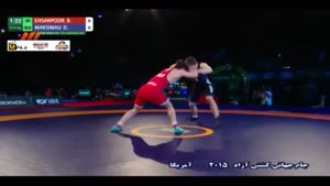 پیروزی احسانپور مقابل بلاروس؛ وزن ۶۱ کیلوگرم
