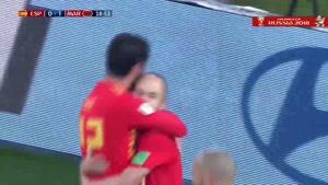 گل اول اسپانیا به مراکش توسط ایسکو