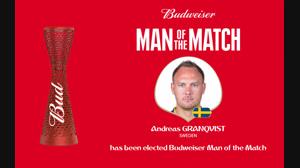 بهترین بازیکن بازی  سوئد و کره جنوبی