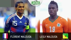 برادران فوتبالیستی که در دو تیم ملی مختلف بازی می کنند