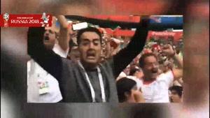 شادی بعد گل طرفداران تیم ملی ایران