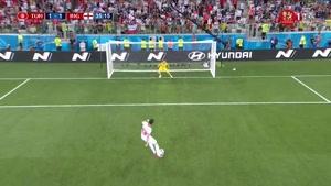 گل اول تونس به انگلیس از روی نقطه پنالتی توسط ساسید
