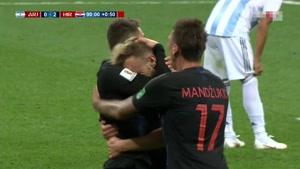 گل سوم کرواسی به آرژانتین توسط راکیتیچ