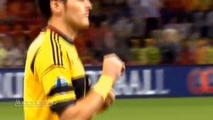 تیم ملی پرتغال و تیم ملی اسپانیا مقابل هم در سال ۲۰۱۲